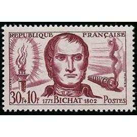 France num Yvert 1211 ** MNH Xavier Bichat Année 1959