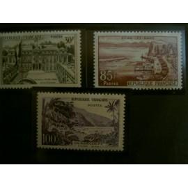 France num Yvert 1192-1194 ** MNH Serie Touristique Année 1959