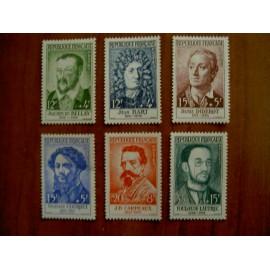 France num Yvert 1166-1171 ** MNH Célébrités Année 1958