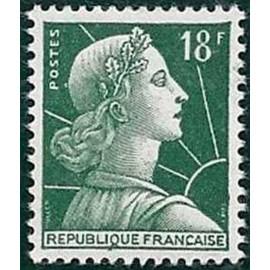 France num Yvert 1001A ** MNH Muller  Année 1955