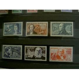 France num Yvert 1012-1017 ** MNH Inventeurs celebres Année 1955