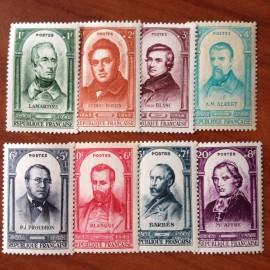 France num Yvert 795/802 ** MNH Célébrités 1848 Année 1948