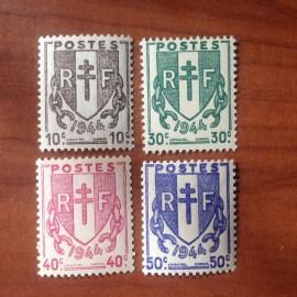 France num Yvert 670-681 ** MNH Chaines Brisées Année 1945
