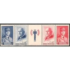 France num Yvert 568-571B ** MNH Secours National Année 1943