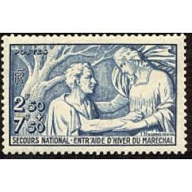 France num Yvert 498 ** MNH Secours National Année 1941