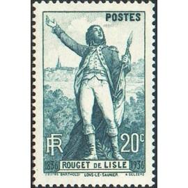 France num Yvert 314-315 ** MNH Claude Rouget de Lisle Marseillaise Année 1936