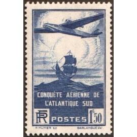 France num Yvert 320 ** MNH Atlantique Sud Année 1936
