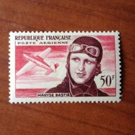 France PA Avion Num Yvert 34* Maryse Bastie