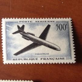 France PA Avion Num Yvert 36* Sud aviation Caravelle
