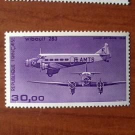 France PA Avion Num Yvert 59b** MNH Trimoteur Wibault 284
