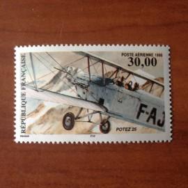 France PA Avion Num Yvert 62** MNH Biplan Potez 25