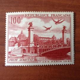France PA Avion Num Yvert 28** MNH Paris Pont