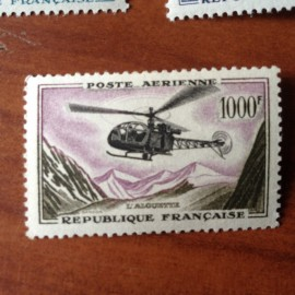France PA Avion Num Yvert 37** MNH Helicoptere Alouette