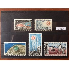 TAAF ** 1963 ANNEE COMPLETE MNH sans charniere luxe