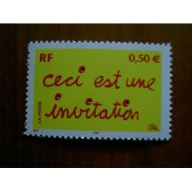 France num Yvert 3636 ** MNH Année 2004 invitation