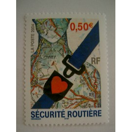 France num Yvert 3659 ** MNH Année 2004 securité routiere