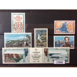 TAAF ** 1968 ANNEE COMPLETE MNH