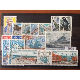 TAAF ** 1976 ANNEE COMPLETE MNH