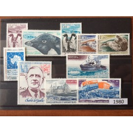 TAAF ** 1980 ANNEE COMPLETE MNH