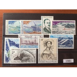 TAAF ** 1981 ANNEE COMPLETE MNH