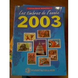 LES TIMBRES DE L'ANNEE 2003
