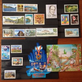 NOUVELLE CALEDONIE ** 2011 ANNEE COMPLETE MNH sauf 1138/1139