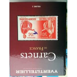 CARNET de FRANCE Volume 3 timbre 283, 365 368 avec livret cote 2011