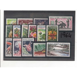 NOUVELLE CALEDONIE ** 1964 ANNEE COMPLETE MNH