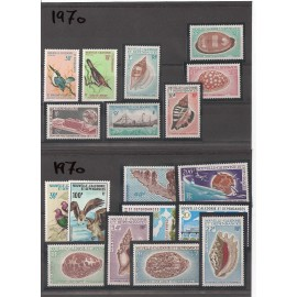 NOUVELLE CALEDONIE ** 1970 ANNEE COMPLETE MNH