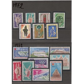NOUVELLE CALEDONIE ** 1972 ANNEE COMPLETE MNH€51,00€€