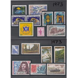 NOUVELLE CALEDONIE ** 1973 ANNEE COMPLETE MNH