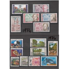 NOUVELLE CALEDONIE ** 1974 ANNEE COMPLETE MNH