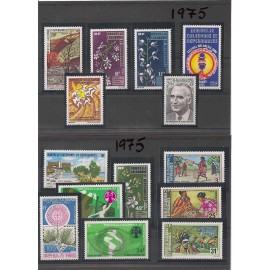 NOUVELLE CALEDONIE ** 1975 ANNEE COMPLETE MNH