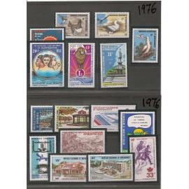 NOUVELLE CALEDONIE ** 1976 ANNEE COMPLETE MNH