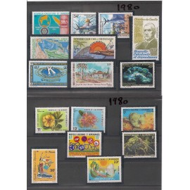 NOUVELLE CALEDONIE ** 1980 ANNEE COMPLETE MNH