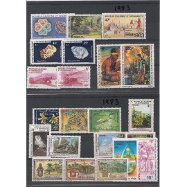 NOUVELLE CALEDONIE ** 1983 ANNEE COMPLETE MNH