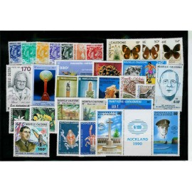 NOUVELLE CALEDONIE ** 1990 ANNEE COMPLETE MNH