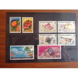 Polynesie annee complete 1962 ** MNH