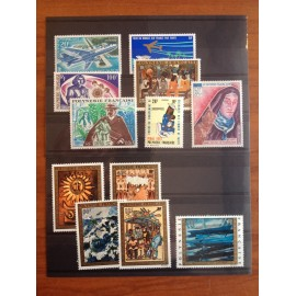 Polynesie annee complete 1973 ** MNH
