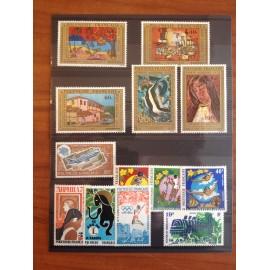 Polynesie annee complete 1975 ** MNH