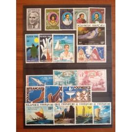 Polynesie annee complete 1976 ** MNH