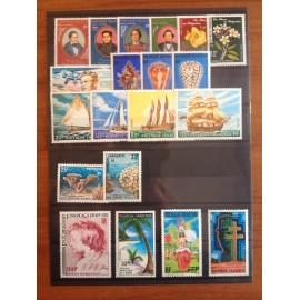 Polynesie annee complete 1977 ** MNH