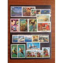 Polynesie annee complete 1981 ** MNH