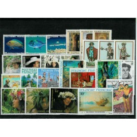 Polynesie annee complete 1983 ** MNH