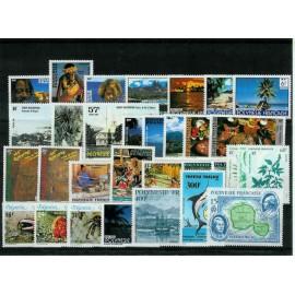 Polynesie annee complete 1986 ** MNH