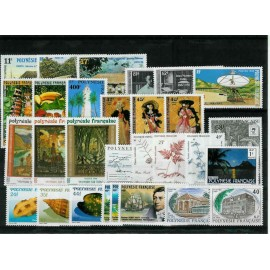 Polynesie annee complete 1988 ** MNH