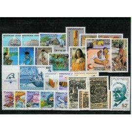 Polynesie annee complete 1989 ** MNH