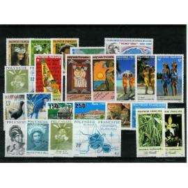 Polynesie annee complete 1990 ** MNH