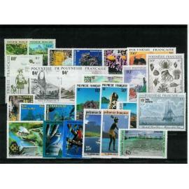 Polynesie annee complete 1991 ** MNH