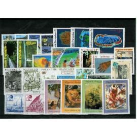 Polynesie annee complete 1992 ** MNH